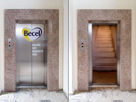 Becel Ambient Ad -  Elevator