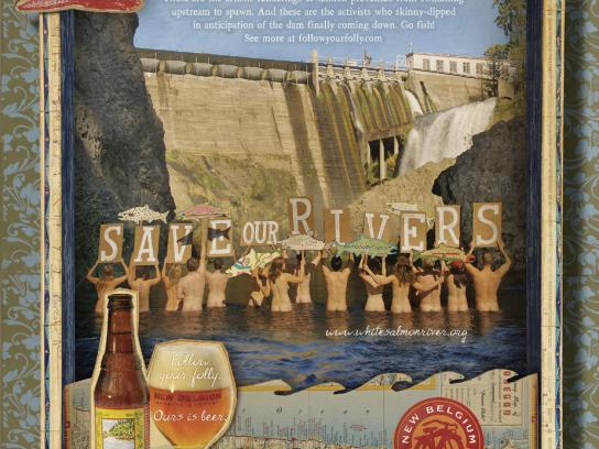 New Belgium Brewing Print Ad -  Rivers