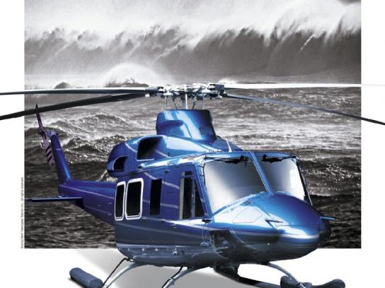 Bell Helicopter Print Ad -  Green
