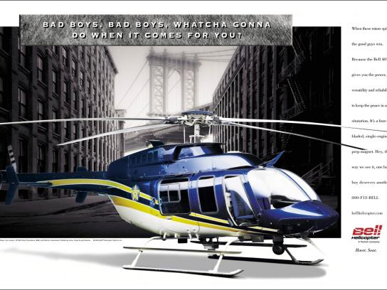 Bell Helicopter Print Ad -  Bad boys