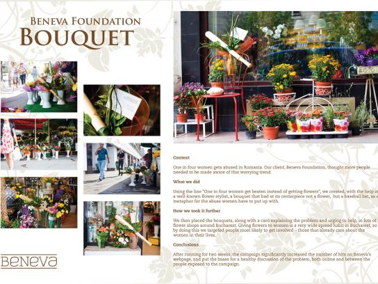 Beneva Foundation Ambient Ad -  Bouquet