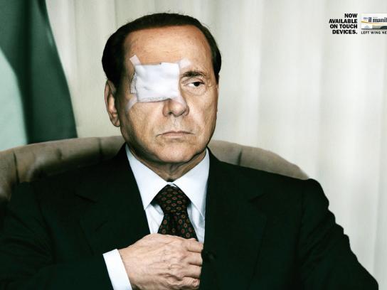 il manifesto Print Ad -  Berlusconi