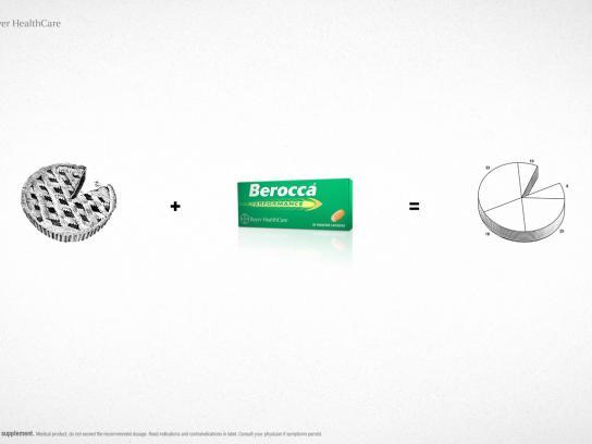 Berocca Print Ad -  Pie
