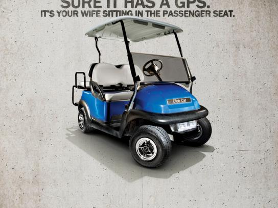 Best Golf Cars Print Ad -  GPS