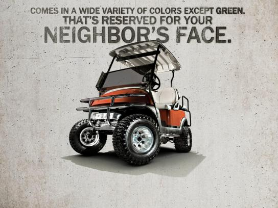 Best Golf Cars Print Ad -  Neighbor