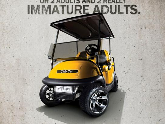 Best Golf Cars Print Ad -  Adults