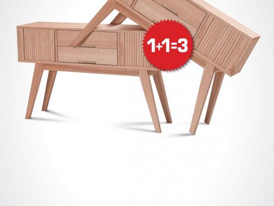 Betili Print Ad -  1+1=3 Hard sale