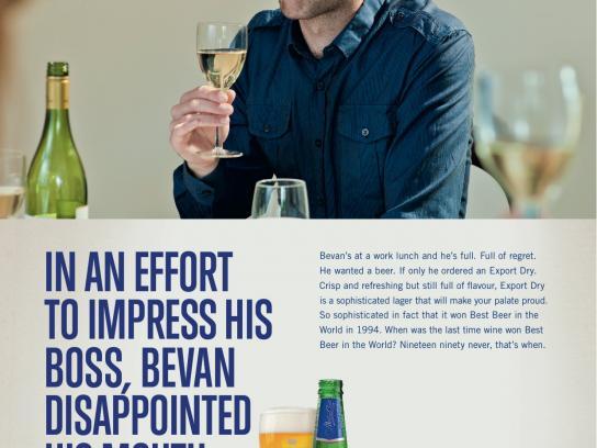 DB Export Dry Print Ad -  Bevan