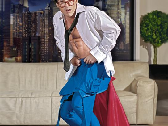 Bezeq Print Ad -  Superman