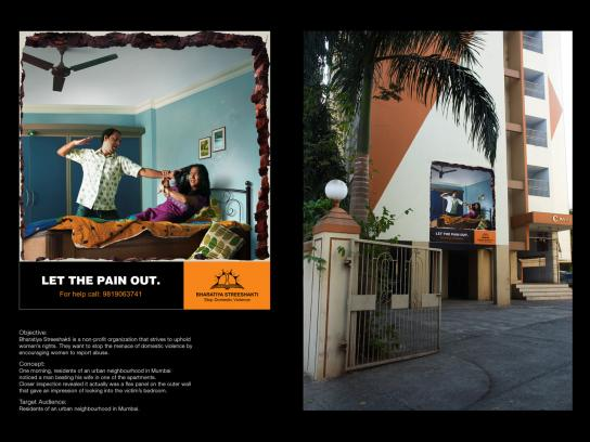 Bharatiya Outdoor Ad -  Let the pain out