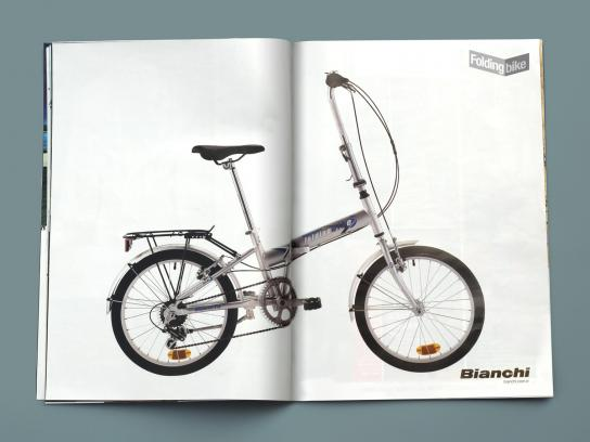 Bianchi Print Ad -  Folding Bike