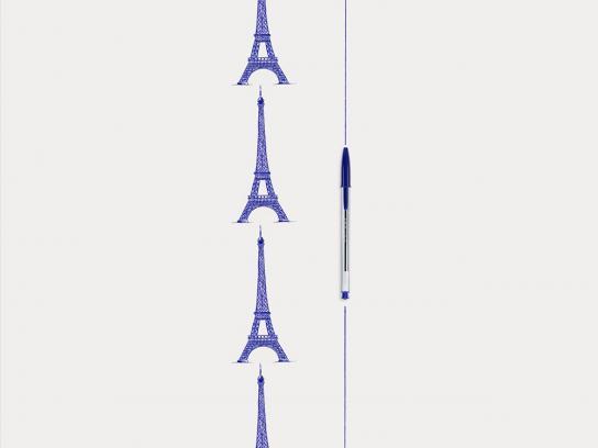 BIC Print Ad -  Eiffel Tower