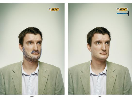 BIC Print Ad -  Shave