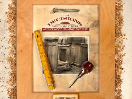 Wood Revival Print Ad -  Decisions