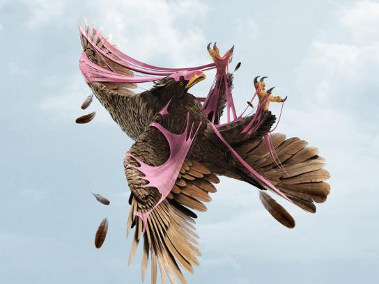 Big Babol Print Ad -  Crashing Bird