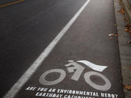Earth Day Ambient Ad -  Bike Cape