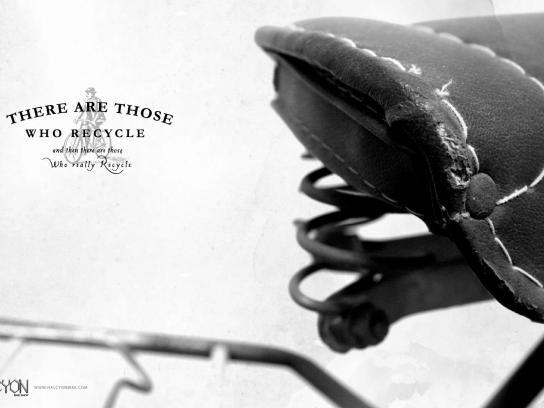 Halcyon Bikes Print Ad -  Recycle