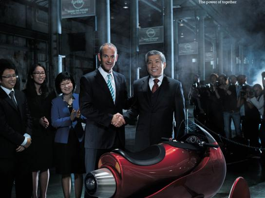 King & Wood Mallesons Print Ad -  Bike