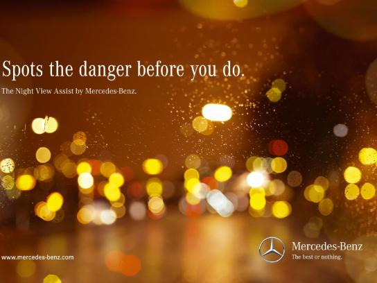 Mercedes Print Ad -  Bike