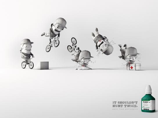 Betadine Print Ad -  Bike Accident