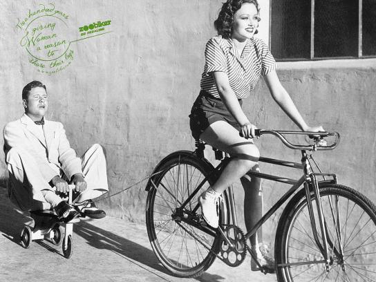 Zoobiker Print Ad -  Woman