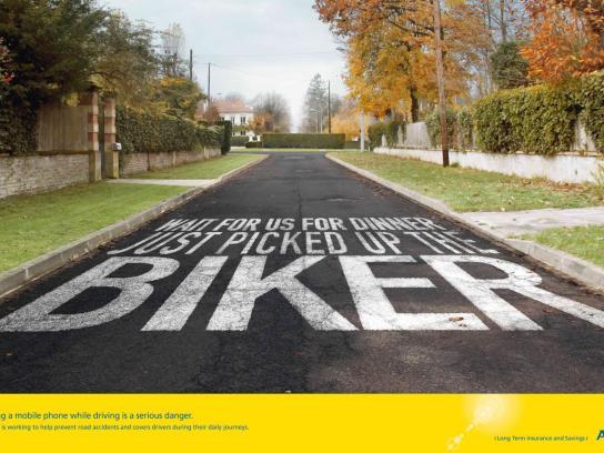 AVIVA Print Ad -  Biker