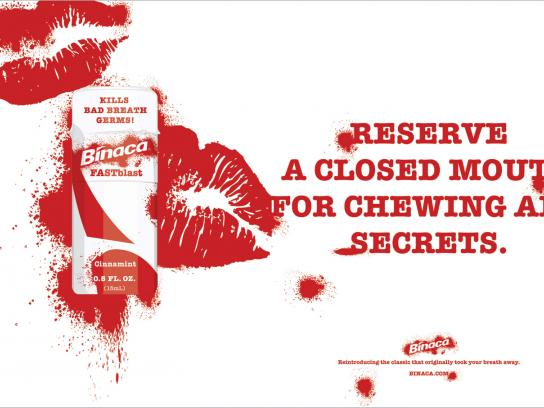 Binaca Print Ad -  Secrets
