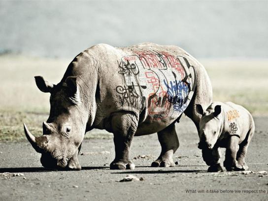 WWF Print Ad -  Biodiversity And Biosafety Awareness, Rhinoceros