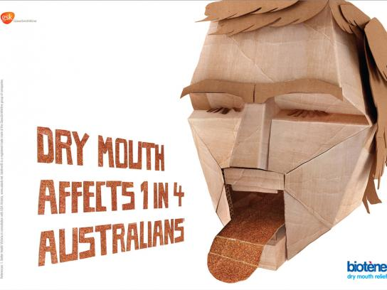 Biotene Outdoor Ad -  Cardboard mouth