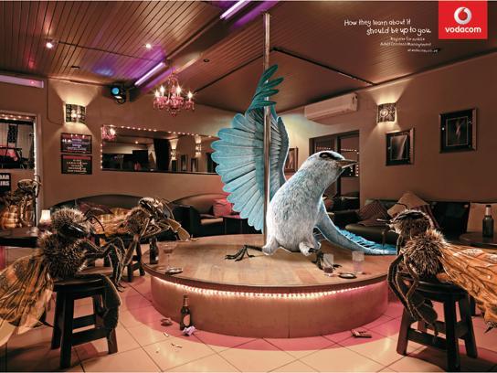Vodacom Print Ad -  Strip Club