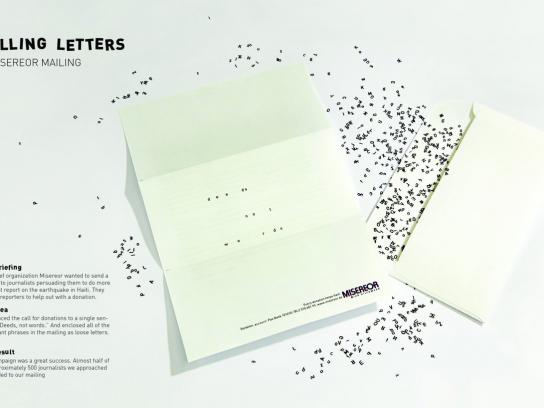 Misereor Direct Ad -  Falling letters