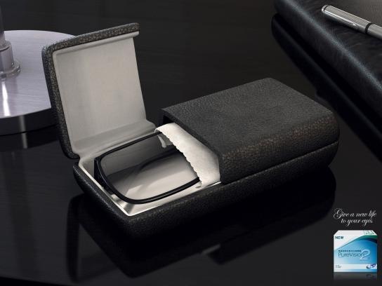 Bausch & Lomb Print Ad -  Coffins Black Coffin