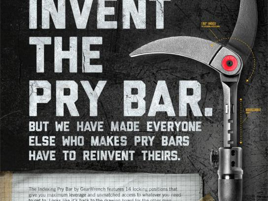 GearWrench Print Ad -  Pry Bar