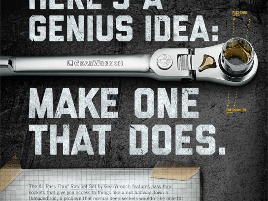 GearWrench Print Ad -  Ratchet Set