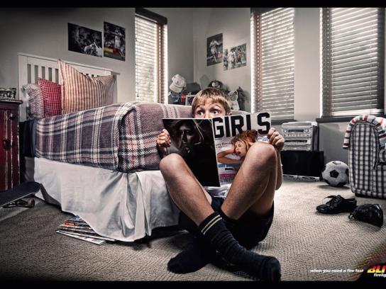 Blitz Firelighters Print Ad -  Naughty boy