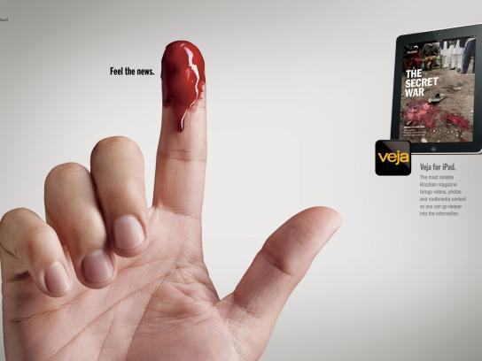 Veja Print Ad -  Fingers, Blood