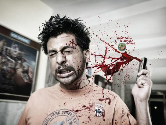 Bangalore traffic police Print Ad -  Talk them dead, Girlfriend