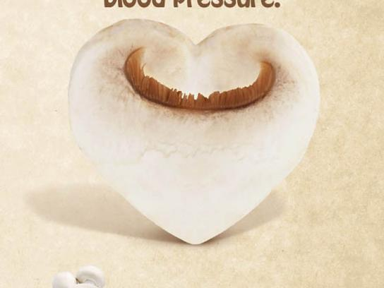 Australian Mushroom Growers Association Print Ad -  Blood Pressure