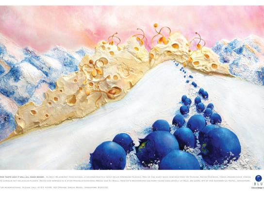 Shangri-La Print Ad -  Almost Blueberry Cheesecake