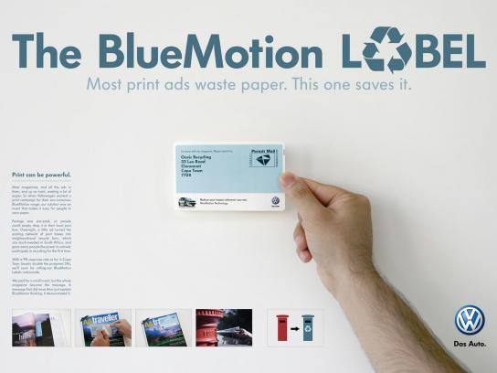 Volkswagen Direct Ad -  The BlueMotion Label