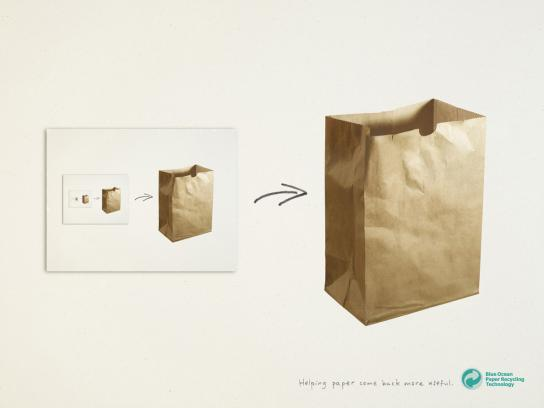 Blue Ocean Print Ad -  Paper bag