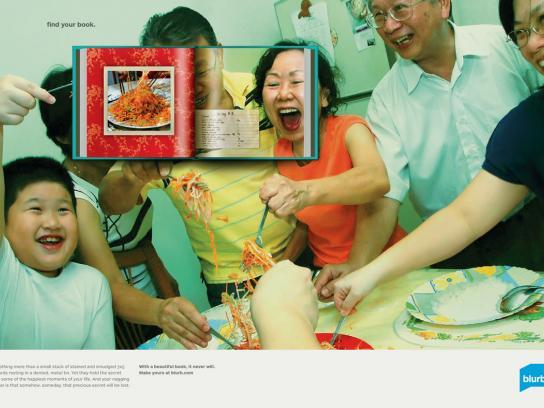 Blurb Print Ad -  Family Cookbook