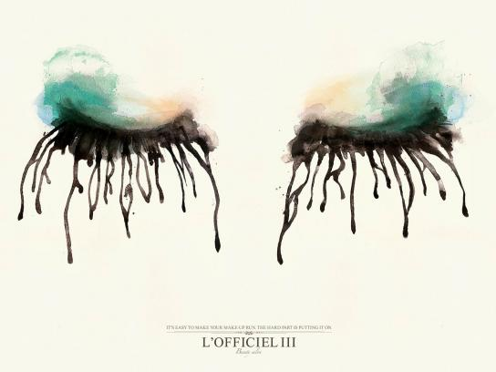 L'Officiel III Print Ad -  Blurred Eyes, Birthday