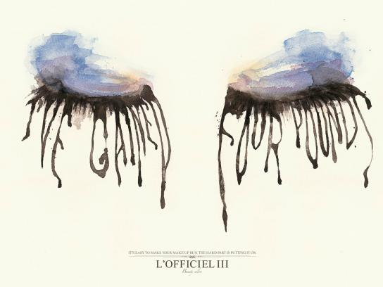 L'Officiel III Print Ad -  Blurred Eyes, Fat