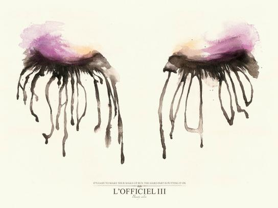 L'Officiel III Print Ad -  Blurred Eyes, Old