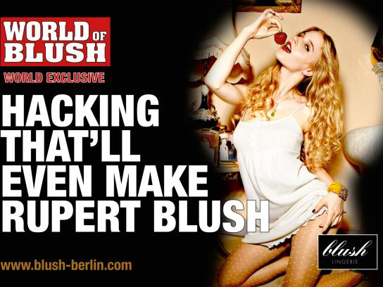 Blush Print Ad -  Hacking