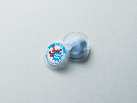Blu Tack Print Ad -  Pushpin