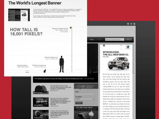 BMW Digital Ad -  The World's Longest Banner
