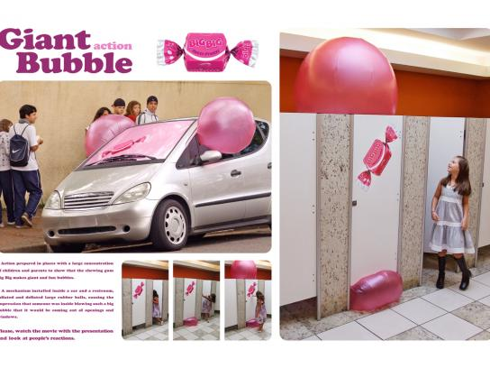 Big Big Ambient Ad -  Giant bubble action