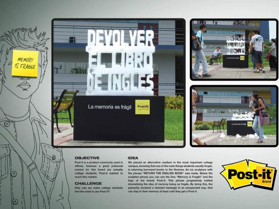 Post-it Brand Ambient Ad -  Ice
